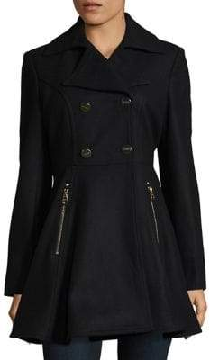 Laundry by Shelli Segal Fit-&-Flare Peacoat