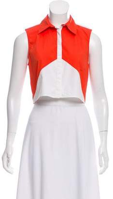 Tanya Taylor Sleeveless Crop Top