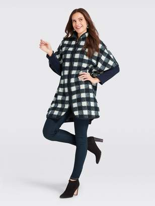 Draper James Buffalo Check Cape Coat