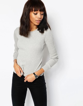 ASOS Sweater In Rib With Crew Neck $28 thestylecure.com