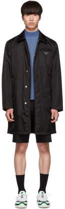 Prada Black Gabardine Car Coat