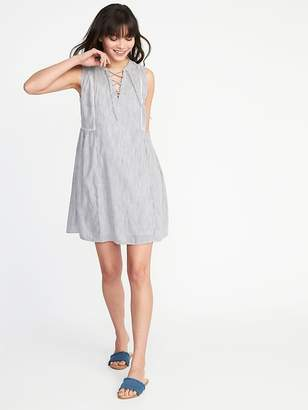 Old Navy Sleeveless Lace-Up Swing Dress for Women