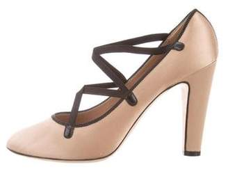 Marc Jacobs Satin Round-Toe Pumps