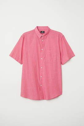 H&M Regular Fit Cotton Shirt - Red