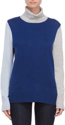 Qi Wool Color Block Turtleneck