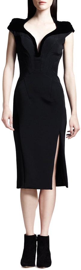 Altuzarra Tribeca Seamed Slit-Front Pencil Dress
