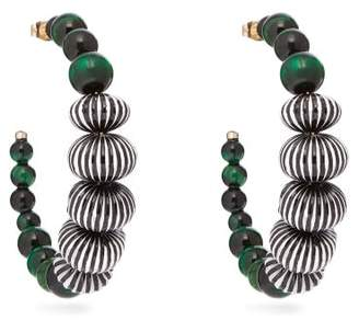Etro Beaded Hoop Earrings - Womens - Green