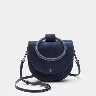 Theory Whitney Bag With Cord Wax Hoop in Suede