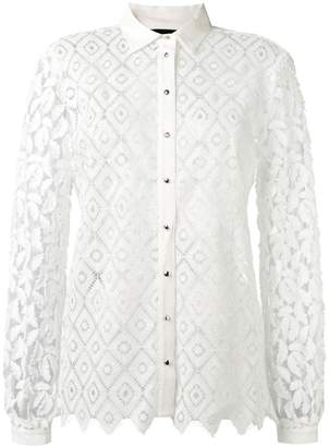 Just Cavalli embroidered button shirt