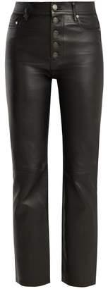 Joseph Den High Rise Stretch Leather Trousers - Womens - Black
