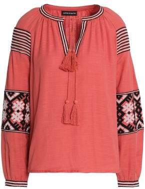 Antik Batik Mobi Embroidered Cotton-Gauze Tunic