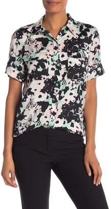 Equipment Short Sleeve Slim Signature Floral Button Shirt