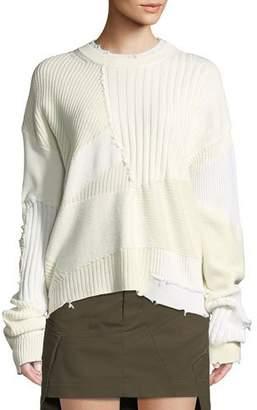 Helmut Lang Ribbed Oversized Crewneck Sweater