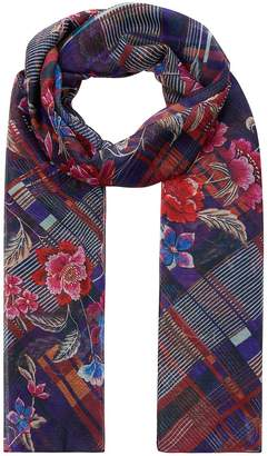 Accessorize Blair Harvard Floral Check Scarf