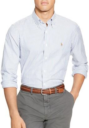 Polo Ralph Lauren Striped Oxford Classic Fit Button-Down Shirt $145 thestylecure.com