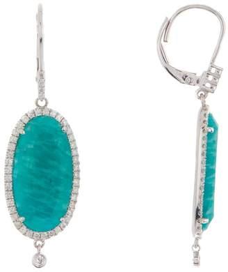 Meira T 14K White Gold Blue Amazonite & Diamond Dangle Earrings