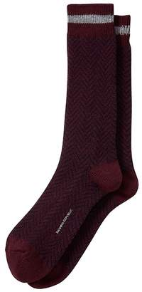 Banana Republic James Herringbone Wool-Blend Sock