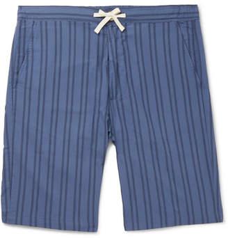 Oliver Spencer Loungewear Striped Organic Cotton Pyjama Shorts