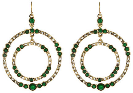 Blu Bijoux Emerald Nicole Earrings