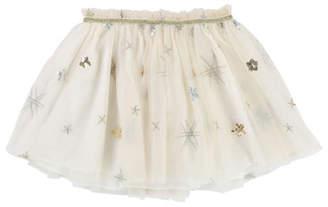 Billieblush Glitter & Sequin Star Tulle Skirt, Size 4-8