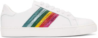 Anya Hindmarch White Rainbow Tennis Sneakers