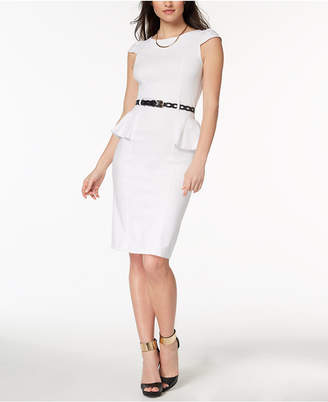XOXO Juniors' Belted Peplum Dress