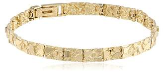 Men's 14k Solid Nugget Diamond-Cut Bracelet