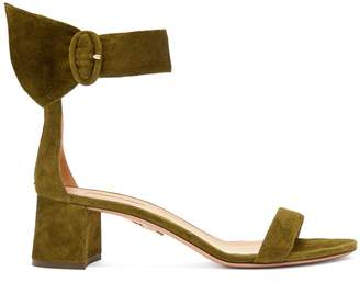 Aquazzura Palace 50 block-heel suede sandals