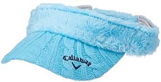 Callaway (キャロウェイ) - [キャロウェイ] [レディース] ボア サンバイザー (サイズ調整可能) / 241-8284808 / 帽子 ゴルフ 112_ブルー 日本 FR (FREE サイズ)