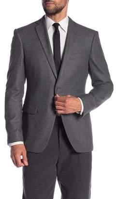 John Varvatos Bedford Charcoal Two Button Notch Lapel Trim Fit Blazer