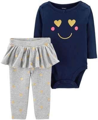 Carter's Baby Girl Smile Bodysuit & Skirted Legging Set