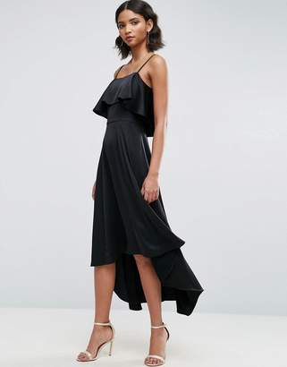 Asos Crop Ruffle Soft Midi Prom Dress