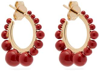 Aurelie Bidermann Ana gold-plated hoop earrings