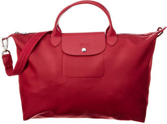 Longchamp Le Pliage Neo Large Canvas Top Handle Tote