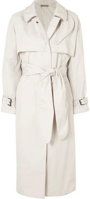 Bottega Veneta Cotton-blend Gabardine Trench Coat - Off-white