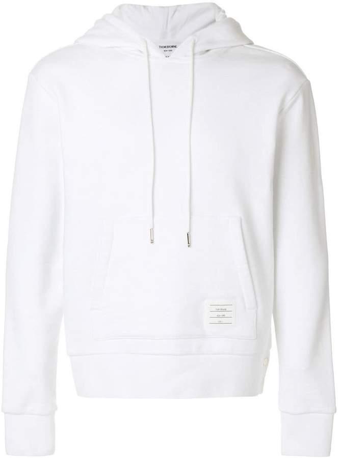 signature stripe detail hoodie