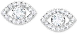 Swarovski Silver-Tone Crystal Eye Stud Earrings