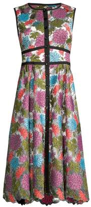 Nanette Lepore Embroidered Floral Button-Front Dress