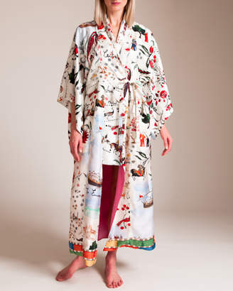 Oscar de la Renta Silk Road Robe