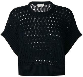 Zanone perforated jumper