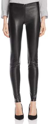 Alice + Olivia Zip Front Leather Leggings $798 thestylecure.com