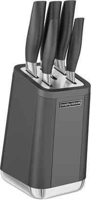 Morphy Richards Aspect 5-Piece Knife Block Set Titanium