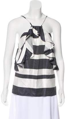 Trina Turk Striped Off-The-Shoulder Blouse w/ Tags