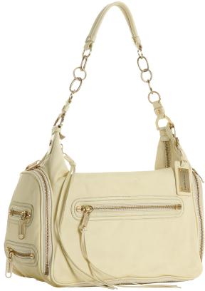 Alexis Hudson pale banana leather 'Olympus' shoulder bag