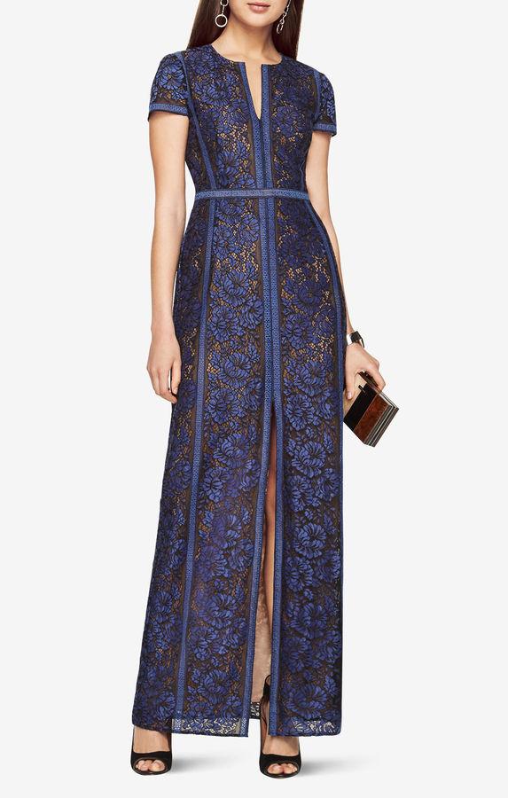 BCBGMAXAZRIACailean Floral Lace Gown