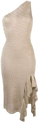 Just Cavalli fitted one-shoulder dress