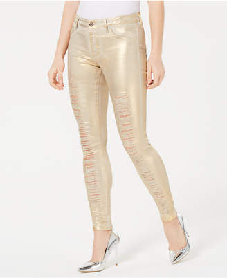 GUESS Sexy Curve Coated Skinny Jeans