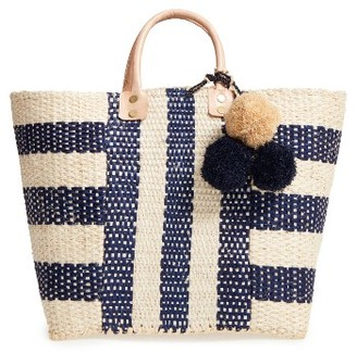 Mar Y Sol 'Collins' Woven Tote - Blue $129 thestylecure.com