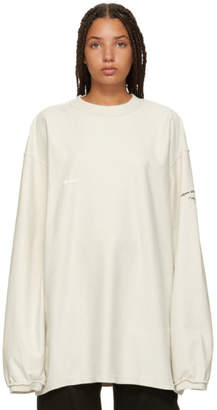 Vetements Beige Inside Out Shark Sweatshirt