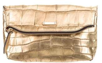 Burberry Metallic Petal Alligator Beauty Pouch